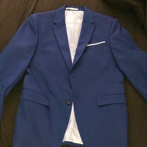 Zara - Blue Two Button Suit Jacket